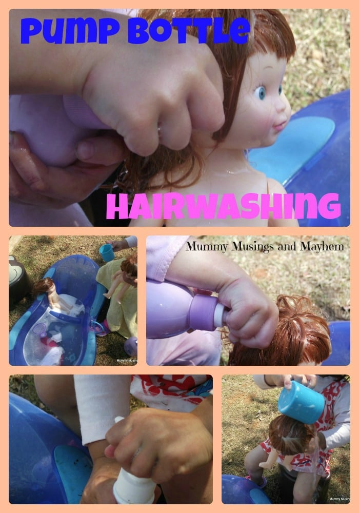 Hairwashing fun for sensory toddlers