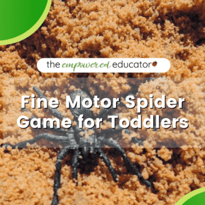 Easy Fine Motor Spider Game for Toddlers!
