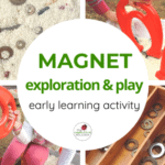 Sensory Fine Motor Magnet Fun with Recycled Materials