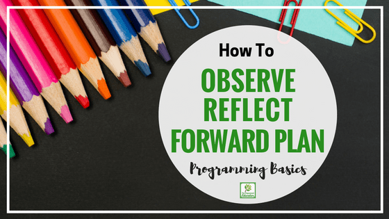 How to write child observations, reflect and forward plan