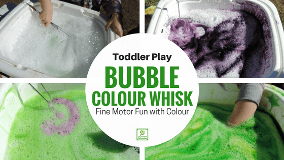 Toddler Fine Motor Whisk and Sieve!
