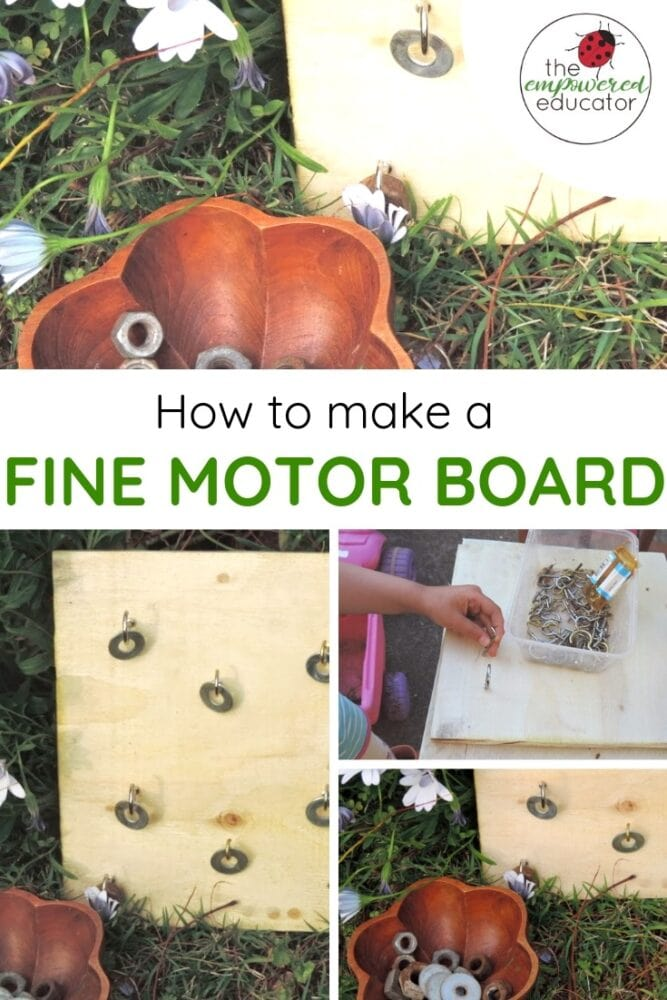 How to make your own fine motor board