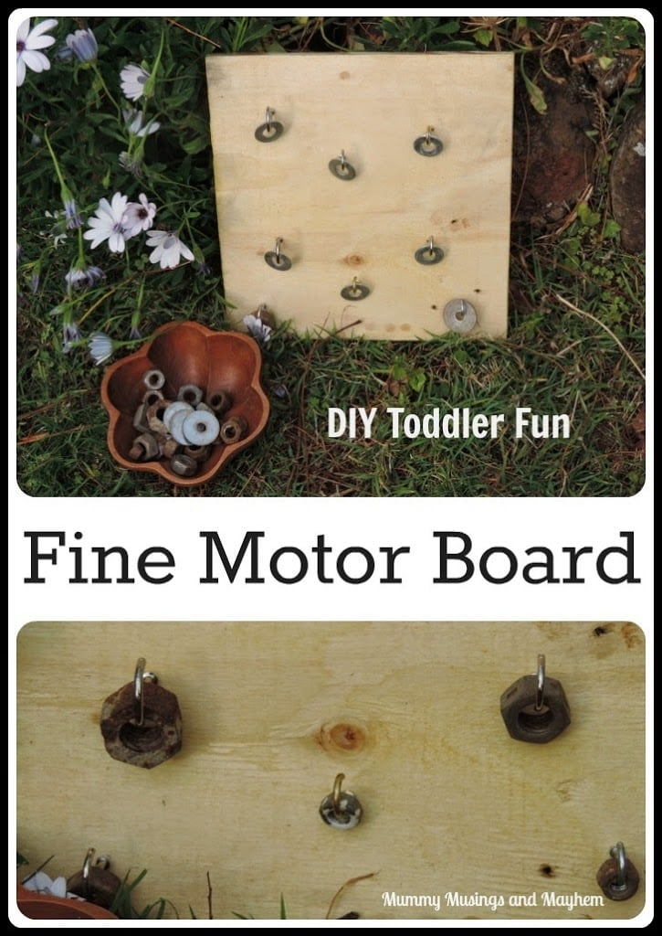 DIY Fine Motor Board Fun for Toddlers