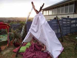 Easy DIY wooden teepee - Mummy Musings and Mayhem