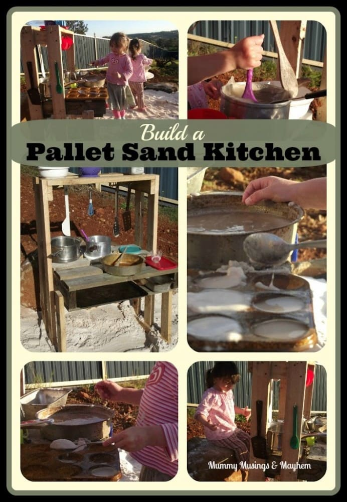 Weekend Wanderings – Building a Pallet Sand Kitchen
