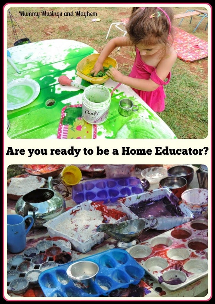 You know you are ready to be a home educator when…..