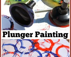 Plunger Painting – Fun for all ages!