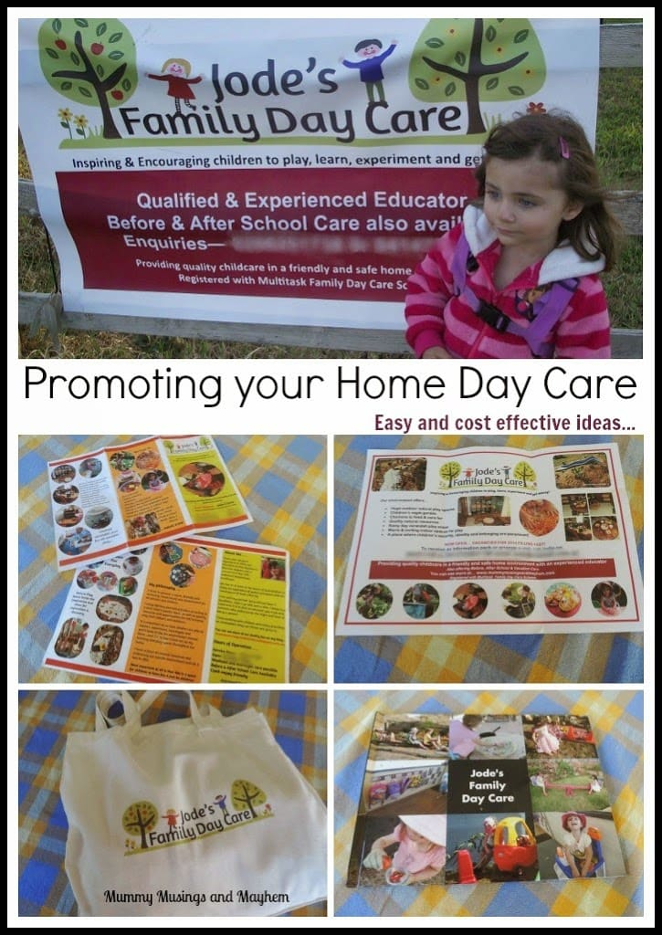 Ideas for promoting and advertising a home day care business.