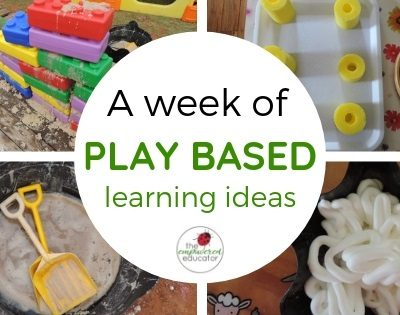 A Week of Play Based Learning – Ideas, Activities and Inspiration