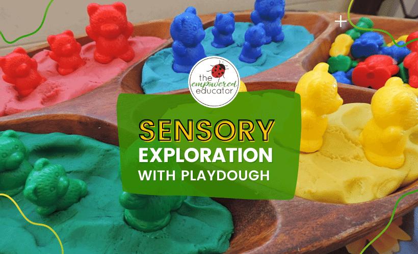 sensory exploration playdough