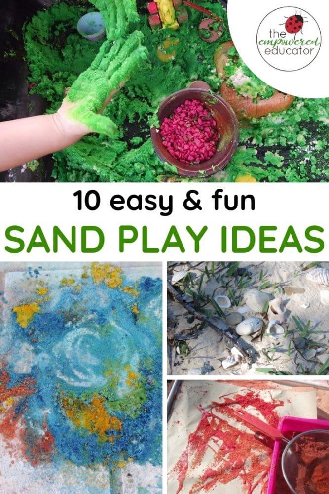 10 easy and fun sand play ideas pinterest