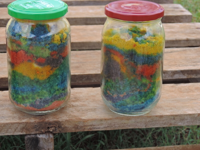 10 ideas for toddler sensory sand play including making your own coloured sand - Mummy Musings and Mayhem
