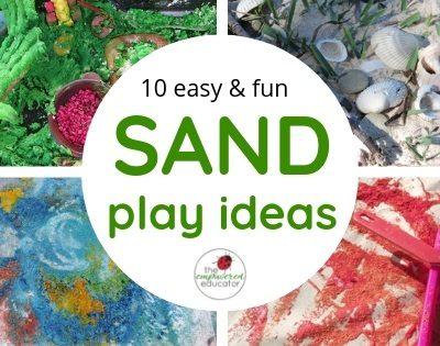 10 Easy ideas for sensory sand play