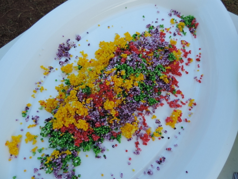 Water beads can be a choking hazard for young children - why not make these safe rainbow balls for fun exploring sensory play as an alternative instead!