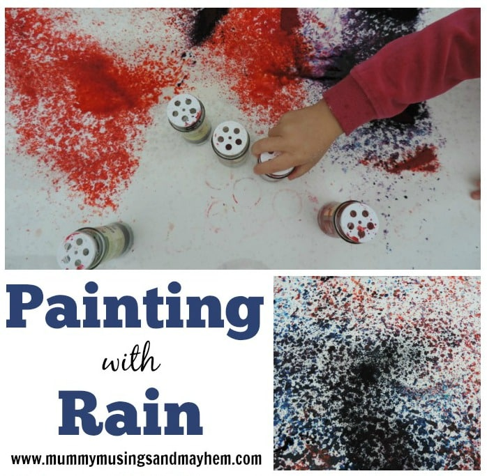 Outdoor Play – Painting with Rain!