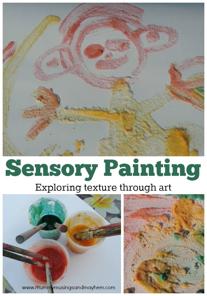 Sensory Salt Painting - exploring texture and touch through artwork and paint. Make your own salt paint by following these easy directions for play!