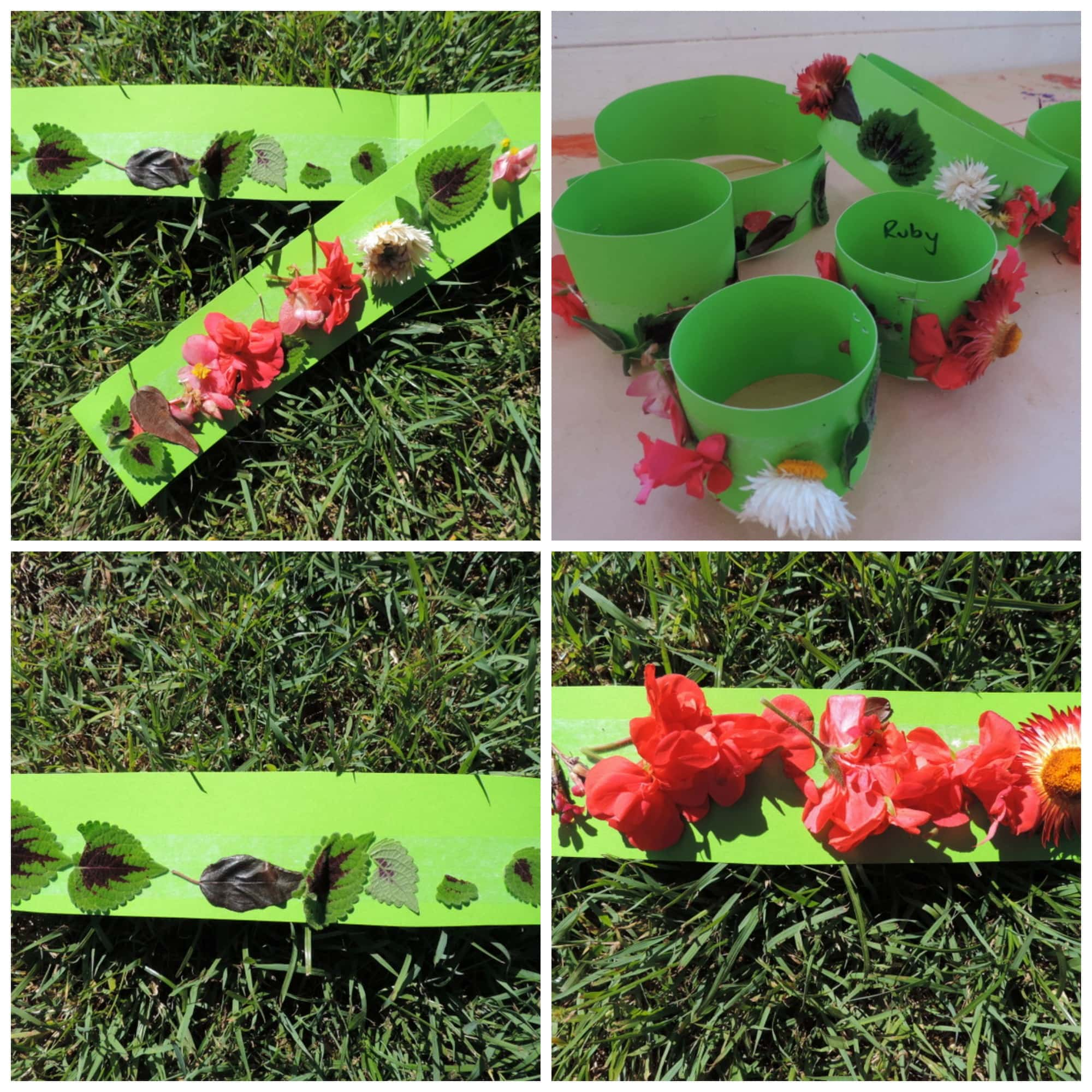 Crowns from Nature - an easy sensory activity that is also mess free! A wonderful way to incorporate natural materials into play and learning! See more at Mummy Musings and Mayhem.
