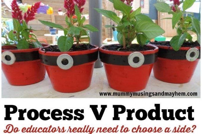 A discussion about process art versus product based craft in early childhood - strategies and reflection for educators and teachers to find a balance for all children.Mummy Musings and Mayhem