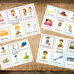 Back to school organisation - free printable cards for families to help you get on top of your morning and afternoon routines. Help your children embrace independence and self help skills! Download yours at Mummy Musings and Mayhem!