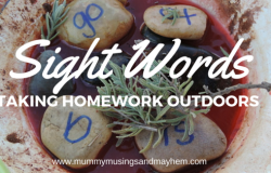 Taking Homework Outdoors – Sight Word Play