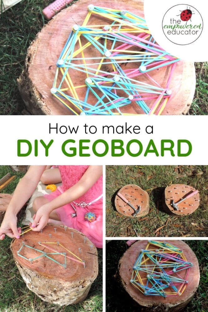 How to make a DIY Geoboard pinterest