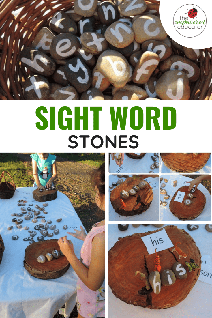 make your own sight words stones
