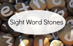 Sight Word Play Using Natural Materials