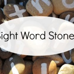 Looking for a fun alternative to sight word flashcards? Make these easy letter stones, follow the activity ideas and get outside for a little play based learning instead!