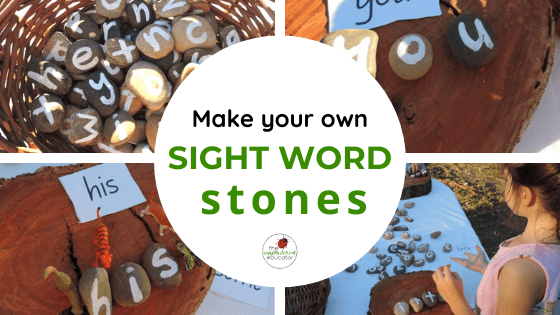 make your own sight word stones for early learning