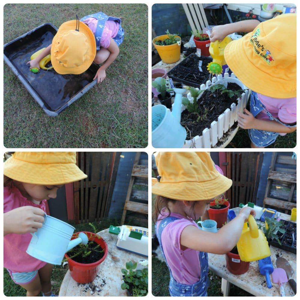 Set up this easy garden shop role play activity for children and watch them develop a love for gardening and outdoor play. Simple play based learning concepts for home educators, parents and early years teachers!