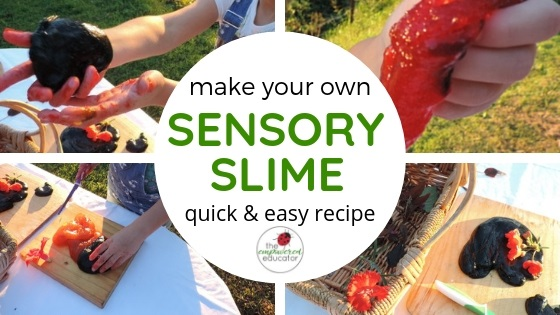 make your own sensory slime feature