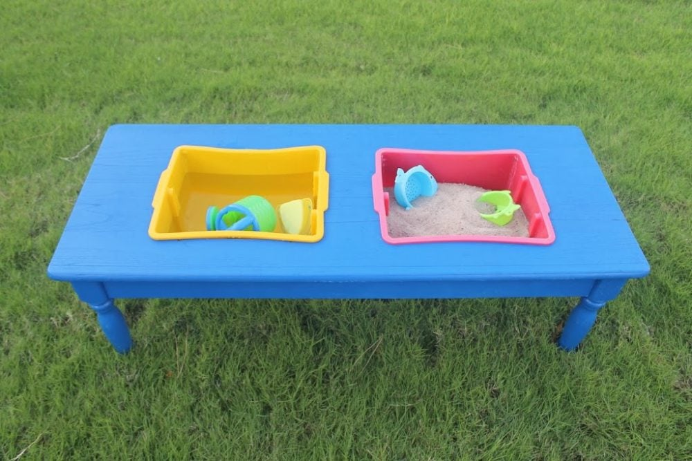 save money and create your own sensory table for water and sand play with these 12