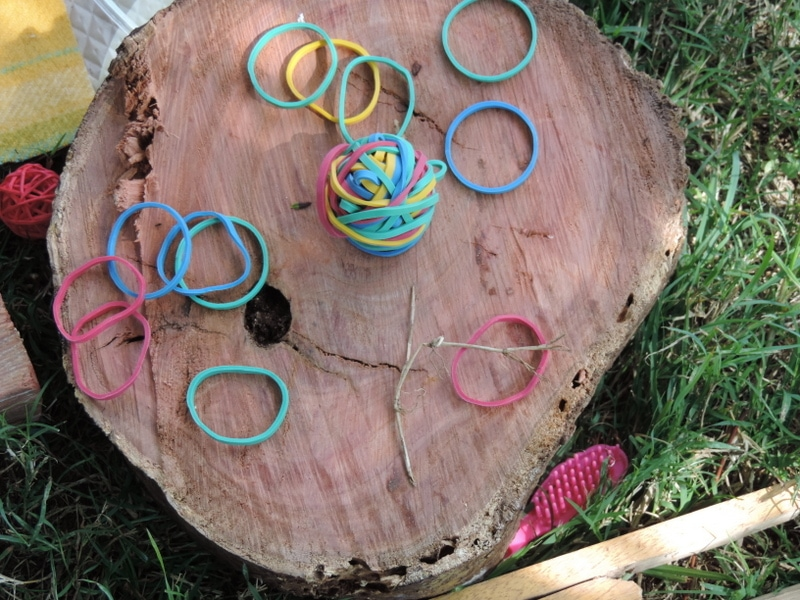 8 easy ideas to introduce play based learning activities into children's outdoor play using wooden cookies, nature and simple DIY resources. Fantastic ideas here for early childhood teachers, educators and homeschool!