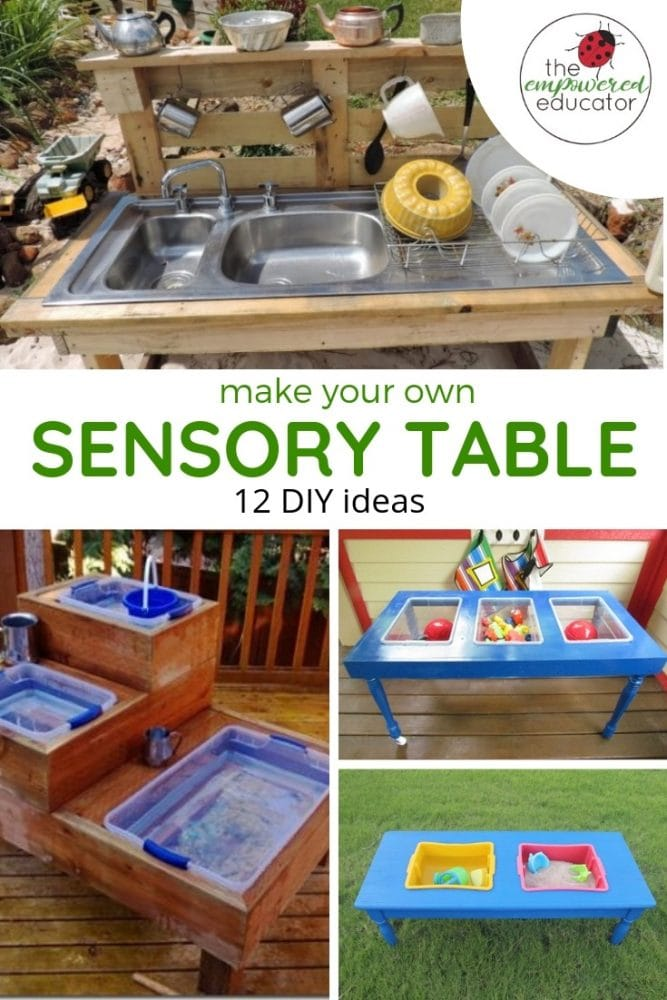 make your own sensory sand and water table diy ideas