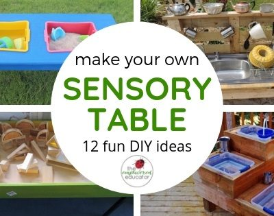 make your own sensory table diy sand and water table ideas