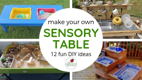 play spaces for early learning - make your own sensory table ideas