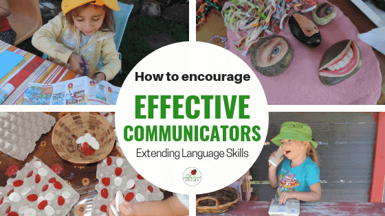 Parents and early childhood educators can use these simple strategies and ideas from The Empowered Educator to help young children become effective and confident communicators. Increase language and listening skills through play! #language #listening #communication #teacherresource #homeschool