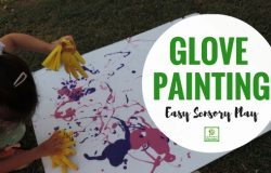 Sensory Play with Glove Painting