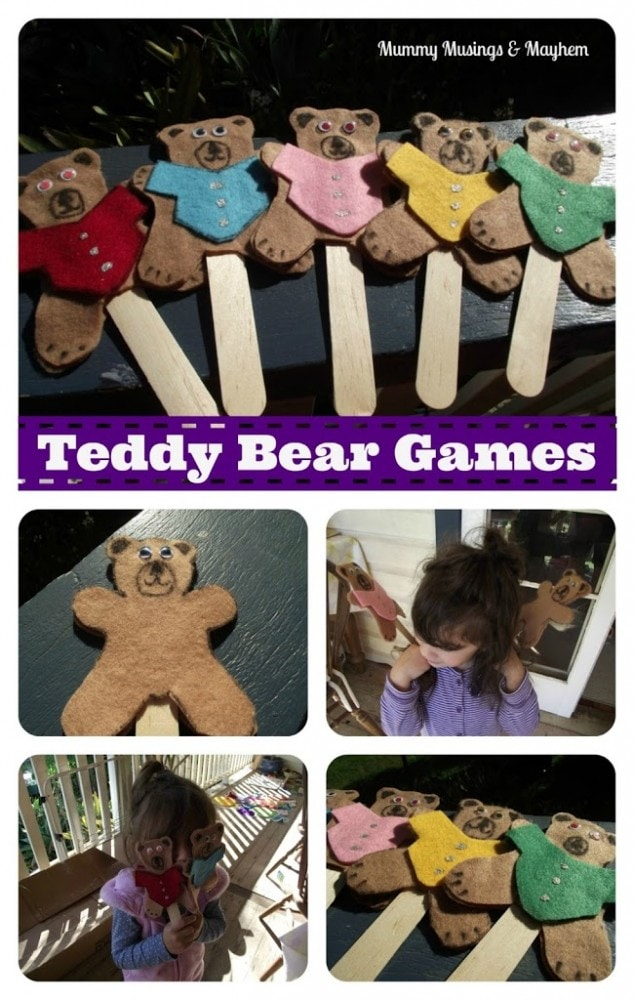 Toddler Felt Teddy Bear Games