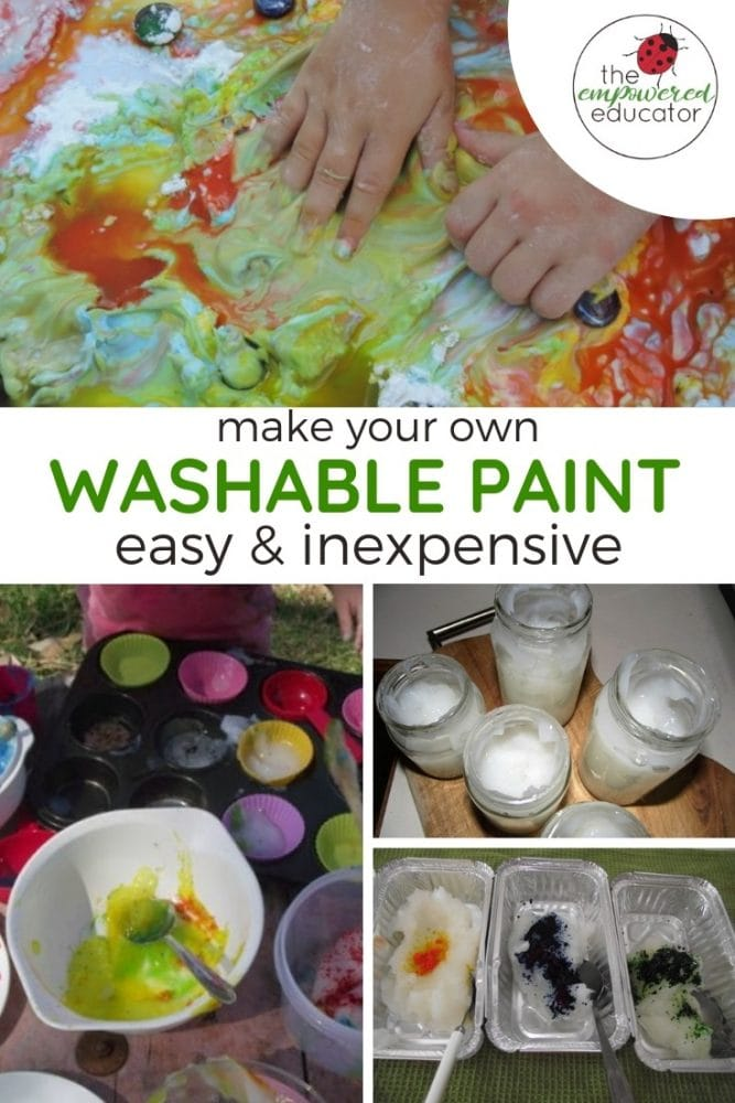 make your own washable paint pinterest 1