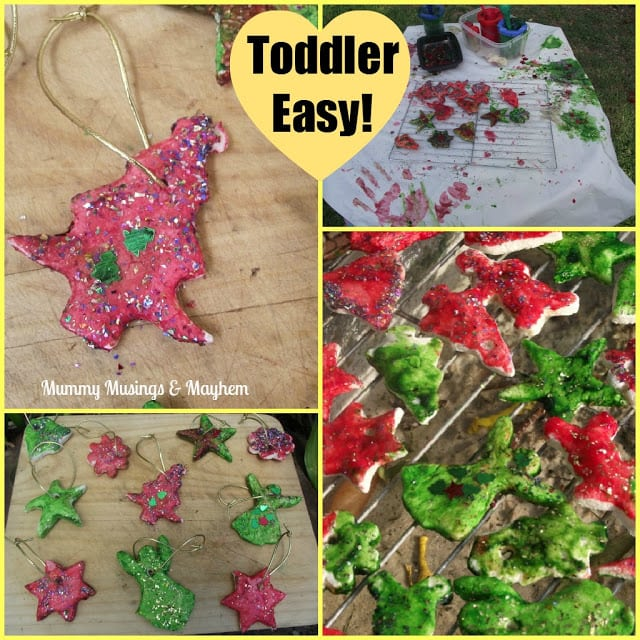 Make your own salt dough Christmas ornaments with children in half the time using this easy microwave version. Lots of fun for home or childcare!
