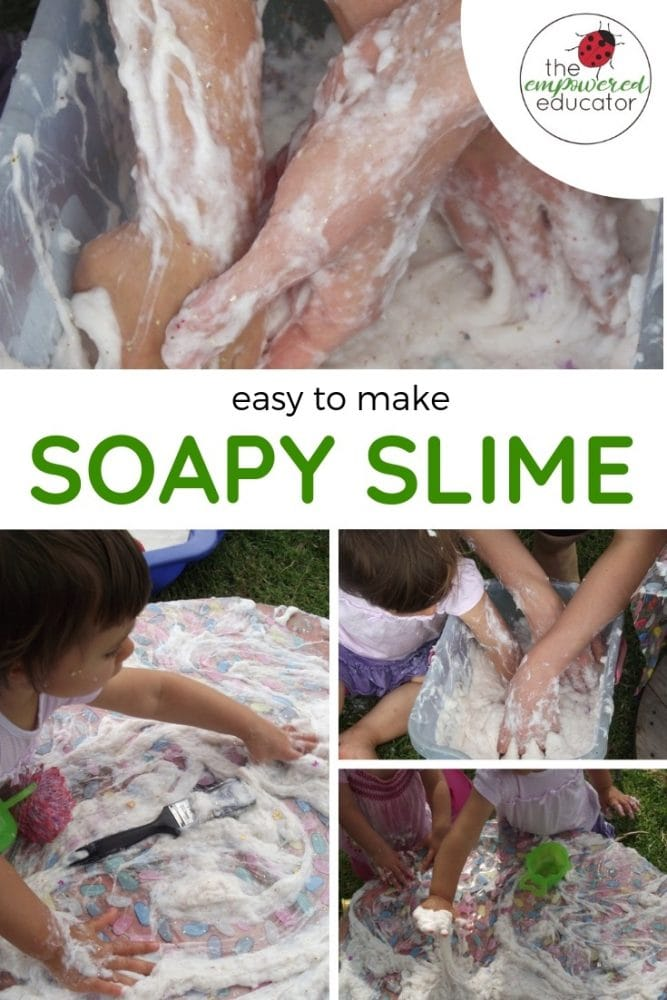 EASY TO MAKE SOAPY SLIME for sensory play