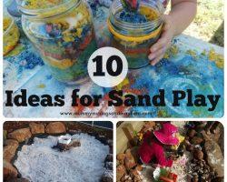 10 Easy ideas for sensory sand play