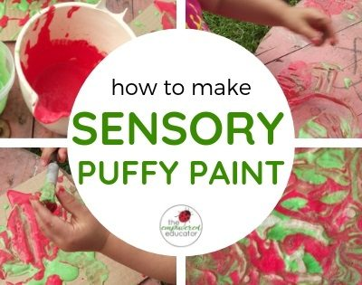 Make your own Puffy Paint for Play