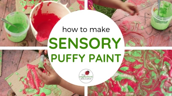 how to make sensory puffy paint feature