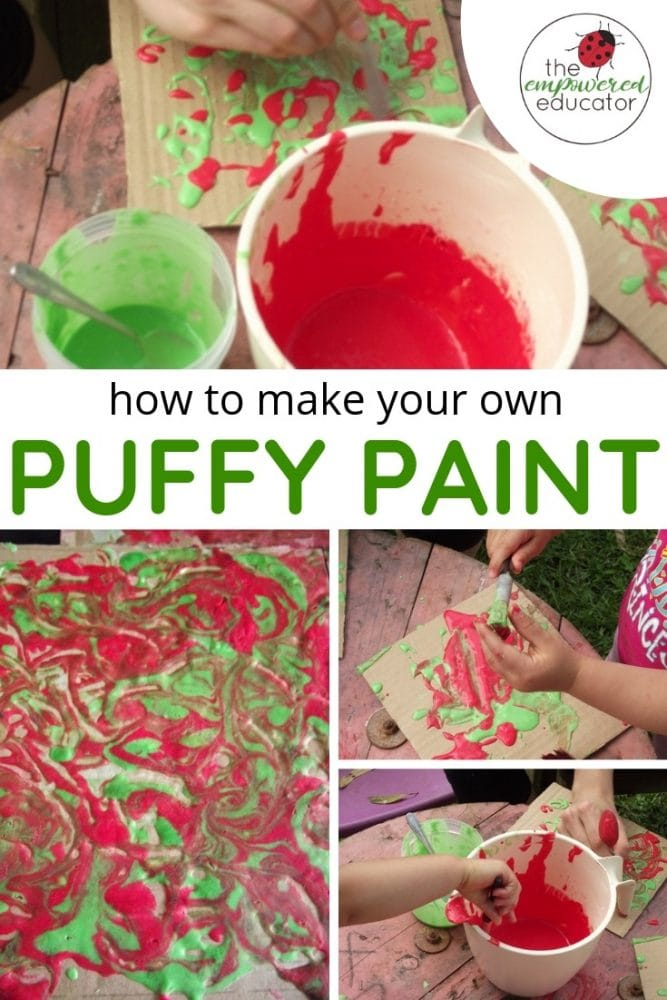 how to make your own puffy paint sensory fun budget diy recipe
