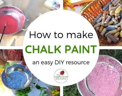 Make your own chalk paint!
