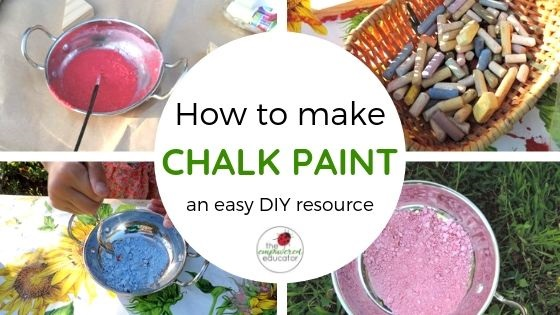 how to make chalk paint for play easy diy recipe