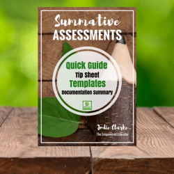 Summative assessments templates and guide for early childhood educators.