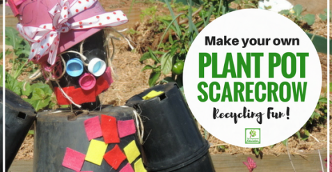 Make a Recycled Plant Pot Scarecrow